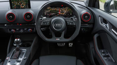 Audi RS3 Saloon - driver area