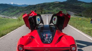 Ferrari LaFerrari doors open