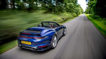 McLaren 720S Spider v Porsche 911 Turbo S Cab – 911 rear tracking
