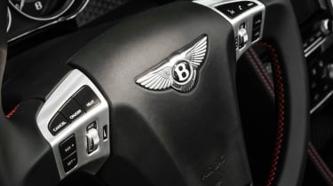 2013 Bentley Continental GT Speed Convertible red stitched steering wheel