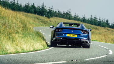 Ferrari 812 GTS TDF blue - rear action