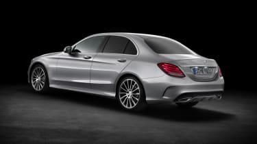 Mercedes C-class silver rear