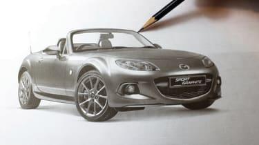 Win an exclusive Mazda MX-5 print