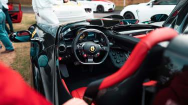 Ferrari Monza SP2 Goodwood FoS cockpit