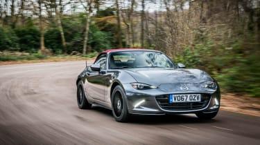 Mazda MX-5 Z-Sport – tracking - front quarter