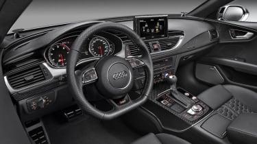New Audi RS7 Sportback interior dashboard steering wheel