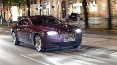 Rolls-Royce Wraith purple night