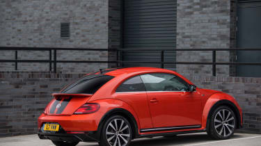 Volkswagen Beetle R-Line rear three quarters