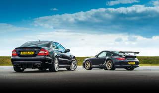 CLK63 Black Series vs 997 GT3 RS