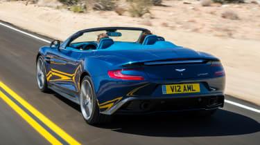 Aston Martin Vanquish Volante on the road