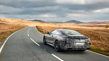 BMW 8-series prototype review - rear tracking