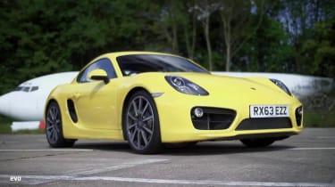 Porsche Cayman S yellow front
