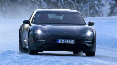 Porsche Mission E – winter testing – front