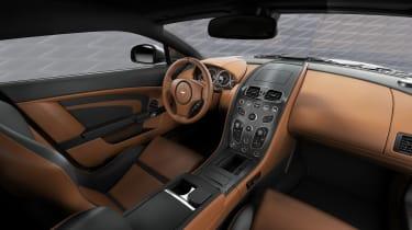 Aston Martin V12 Vantage Zagato R-Reforged interior tan