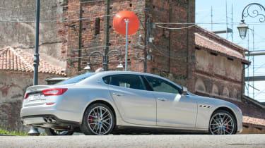 2013 Maserati Quattroporte S V6 silver rear