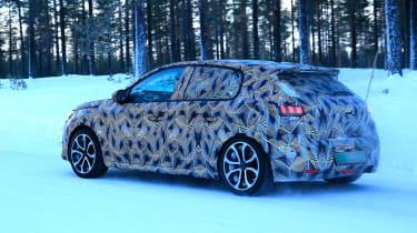 Peugeot 208 spied - rear quarter