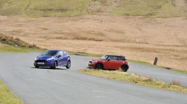 Ford Fiesta ST on three wheels