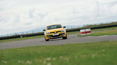 The yellow car has the standard Renaultsport setup