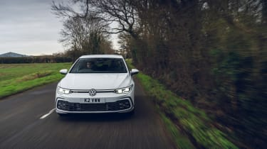 Volkswagen Golf GTD 2021 review - front tracking