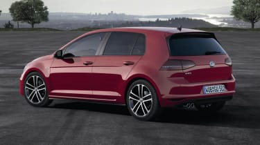 Mk7 VW Golf GTD red side profile