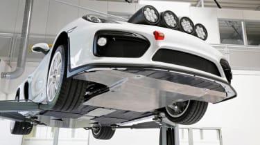 Porsche Cayman GT4 Clubsport rally - under