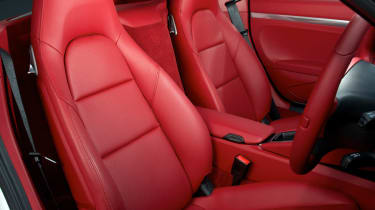 2013 Porsche Cayman read leather sports seat