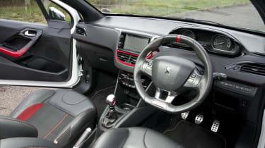 Peugeot 208 GTI interior dashboard steering wheel