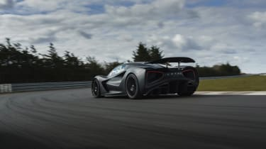 Lotus Evija testing – rear quarter