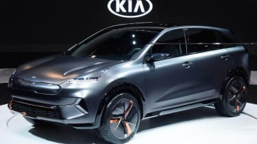 Kia Niro EV CES – front quarter