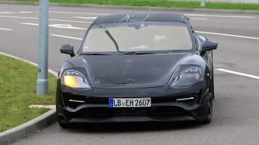 Porsche Mission E Spy - front