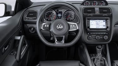 New VW Scirocco interior dashboard