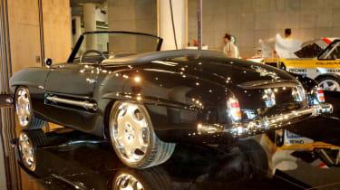 400bhp Mercedes 190SL CMH black rear view