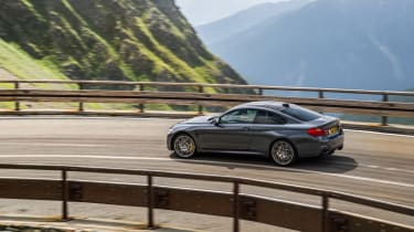 M4 vs C63 vs RC F vs Giulia QV in the Alps
