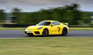 Porsche 718 Cayman GT4 cornering