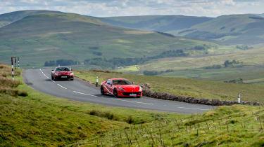 Aston Martin DBS Superleggera vs Ferrari 812 Superfast duo