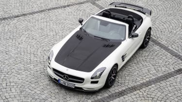 Mercedes SLS AMG GT Final Edition Roadster white