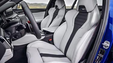 BMW M5 F90 - Plum matte front seats