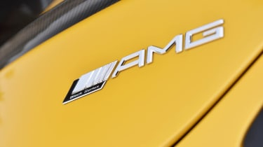 Mercedes SLS AMG Black Series badge