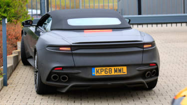 Aston Martin DBS Volante spy - OCT18 rear
