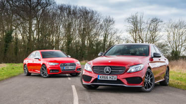 Mercedes-AMG C43 Saloon and Audi S4
