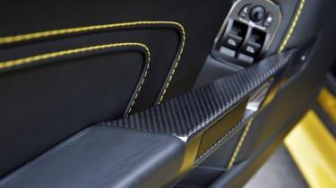 Aston Martin V12 Vantage S yellow stitching