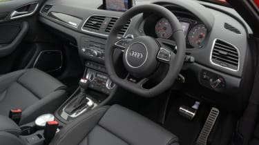 Audi RS Q3 interior dashboard steering wheel