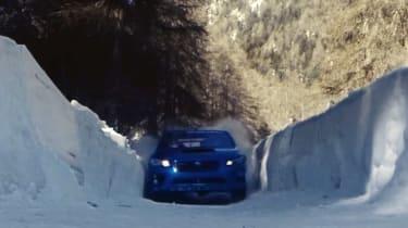 Subaru WRX STI bobsled run front