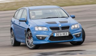 Vauxhall VXR8 Tourer sideways skid drift