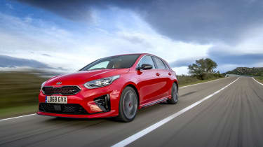Kia Ceed GT review - front quarter
