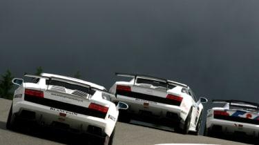 Lamborghini Gallardo Super Trofeo racing car