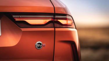 Jaguar F Pace SVR 2021 review - rear lamp