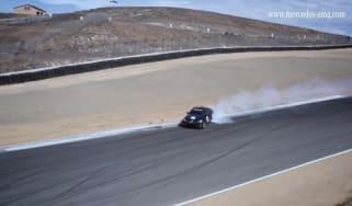 Video: C63 AMG drifts the Corkscrew
