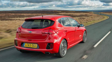 Kia Ceed GT five-door red