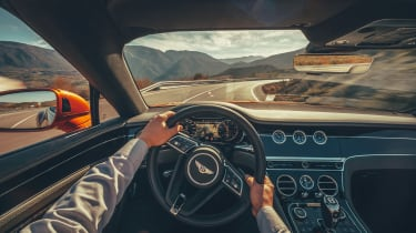 Bentley Continental GT Convertible drive - interior